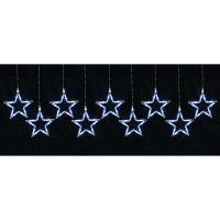LED světelný závěs, 0,8 x 0,4 m, 9 hvězd KAF9/5L