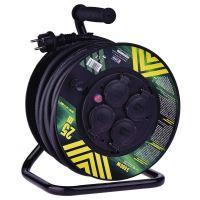 Gumový prodl. kabel na bubnu - 4 zásuvky 25m 2,5mm, 1908542500