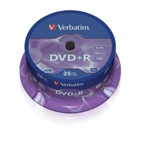 VERBATIM DVD+R AZO 4,7GB, 16x, spindle 25 ks