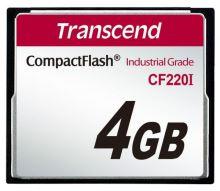 Transcend 4GB INDUSTRIAL TEMP CF220I CF CARD (SLC) Fixed disk and UDMA5, TS4GCF220I