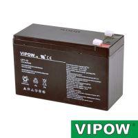 Baterie olověná  12V/ 7Ah  VIPOW (7,5Ah) bezúdržbový akumulátor