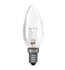 Žárovka otřesu vzdorná E14 60W svíčka