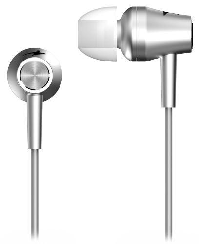 GENIUS HS-M360 /sluchátka s mikrofonem/ 3,5mm jack - 4 pin/ stříbrný