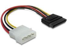 Redukce napájení MOLEX 4-pin na SATA 15-pin přímý, 6 cm, 60112