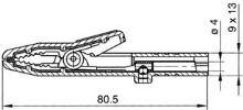 Krokosvorka plně izolovaná, prům.4mm, černá