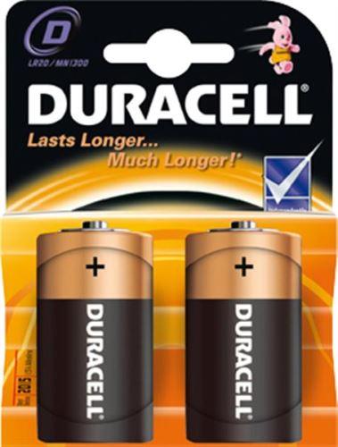 Duracell D 1,5V alkalické baterie / 2KS