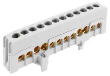 ELEM MŮSTEK A 12-F2 12X16MM2 IP20 ŠEDÝ 63A NA DIN /2020271 3820