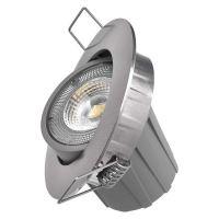 LED bodové svítidlo Exclusive stříbrné, kruh 8W teplá bílá, 1540110710