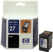 HP C8727AE Ink Cart No.27 pro DJ 3325, 3420, 3550, 3650, 10ml, Black, C8727AE#UUQ