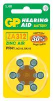 Baterie do naslouchadel GP ZA312, blistr, B3512