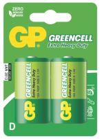 Zinkochloridová baterie GP Greencell R20 (D), blistr, 1012412000