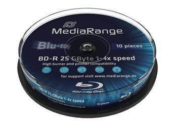 MEDIARANGE BD-R BLU-RAY 25GB 4x spindl 10ks Inkjet Printable