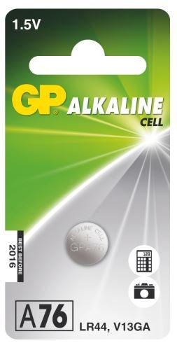 Alkalická knoflíková baterie GP A76F (LR44) B13762