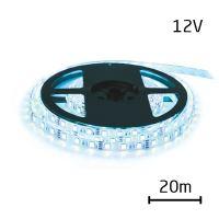 LED pásek 12V 3528 120LED/m IP20 max. 9.6W/m ice blue (cívka 20m)