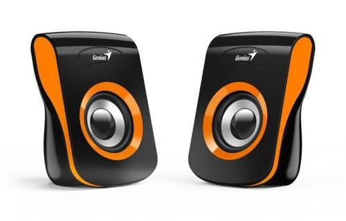 GENIUS repro SP-Q180, 2.0, 6W, USB napájení, 3,5mm jack, černo-oranžové