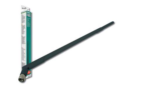 Digitus Všesměrová anténa bezdrátové sítě LAN Zisk: 9 dBi, konektor RP-SMA, 38,4 cm