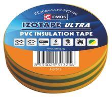 Izolační páska PVC 15mm / 10m zelenožlutá, 2001151050