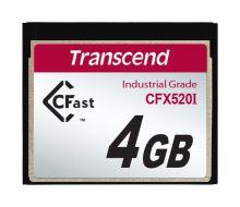 Transcend 4GB INDUSTRIAL TEMP CFAST CFX520I paměťová karta (SLC)