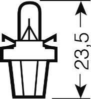 OSRAM 12V B8,5d 2W standard (10ks), OS2722MF