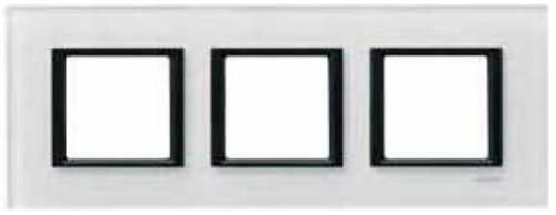 SCHN UNICA CLASS RÁMEČEK 3-NÁSOB WHITE GLASS MGU68.006.7C2