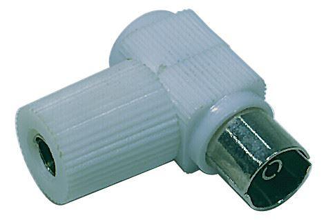Konektor IEC zásuvka šroubovací úhlový, K1851