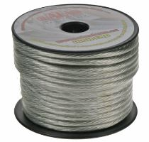 Kabel 6 mm, stříbrně transparentní, 1m