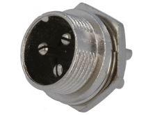 Mikrofonní vidlice do panelu 3 piny (female) MIC333