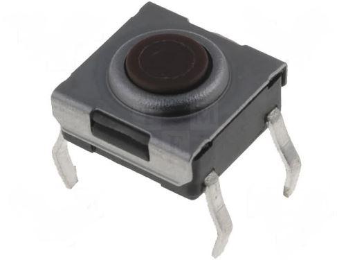 Mikrospínač; 1-polohové; SPST-NO; 0,05A/12VDC; THT; 1,6N; 6x6mm