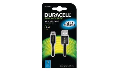 Duracell - napájecí a synchronizační kabel pro Micro USB zařízení 1m
