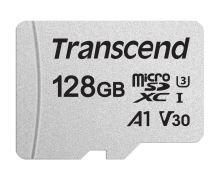 Transcend 128GB microSDXC 300S UHS-I U3 V30 A1 (Class 10) paměťová karta (bez adaptéru), 95MB/s R, 45MB/s W