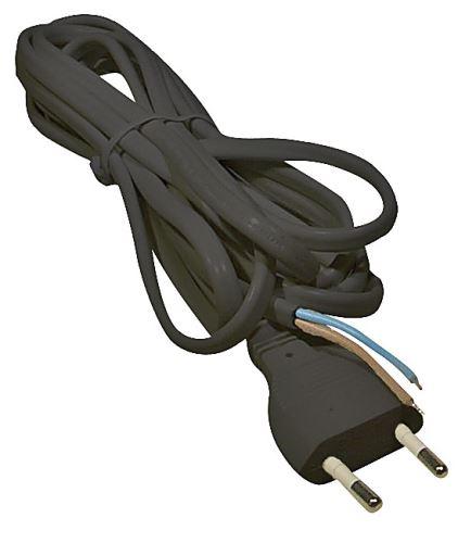 Flexo šňůra PVC 2x0,75 mm, 2m černá, 2401720232