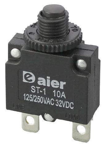 Nadproudový tepelný jistič ST-1 250VAC 10A