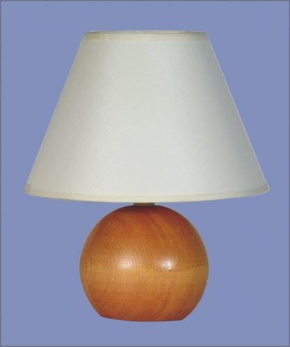 SANDRIA Stolní lampička Lampa dřevo koule střední