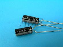 10uF/50V - 85°C Nichicon VR  kondenzátor elektrolytický