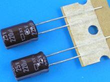 220uF/25V - 105°C Nippon  KY   kondenzátor elektrolytický, low ESR, long life