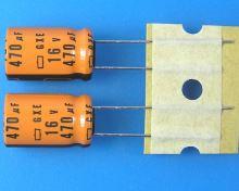 470uF/16V - 125°C Nippon  GXE    kondenzátor elektrolytický high temperature, long life