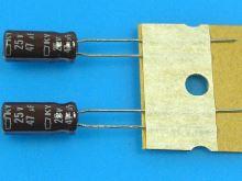 47uF/25V - 105°C Nippon KY   kondenzátor elektrolytický, low ESR, long life