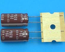 820uF/25V - 105°C Nippon  KZM kondenzátor elektrolytický, low ESR, long life, high ripple