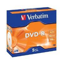 VERBATIM DVD-R AZO 4,7GB, 16x, jewel case 5 ks 43519