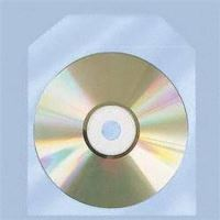 COVER IT Polypropylenový obal na CD/DVD, průhledný s klipem - 100ks