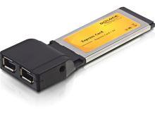 DeLock Express Card > 2x FireWire 1394A, 61387