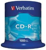 VERBATIM CD-R 80 52x EXTRA spindl 100pck/BAL, 43411