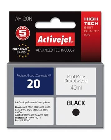 ActiveJet Ink cartridge HP 6614 Bk no20 - 40 ml     AH-614N
