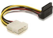 Power Adapter Molex 4-pin samec na 1x SATA 15-pin kolmý nahoru, 60104