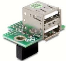 Adaptér USB ze základní desky na 2x USB A samice vodorovný, 41761