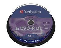 VERBATIM DVD+R DL AZO 8,5GB, 8x, spindle 10 ks
