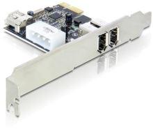 Adaptér PCI Express x1 2+1x FireWire port + low profile, 89213