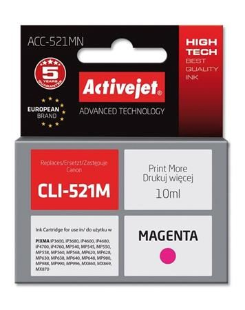 ActiveJet Ink cartridge Canon CLI-521M  (WITH CHIP)     ACC-521M