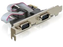 Delock adaptér PCI Express x1 2x sériový port + low profile, 89220