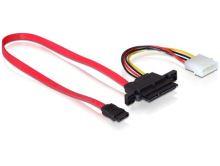 Kabel SATA 22pin > 7pin+4pin Power NSS, 0,5m